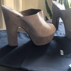 Prada Shoes - Grey Prada wedge shoes